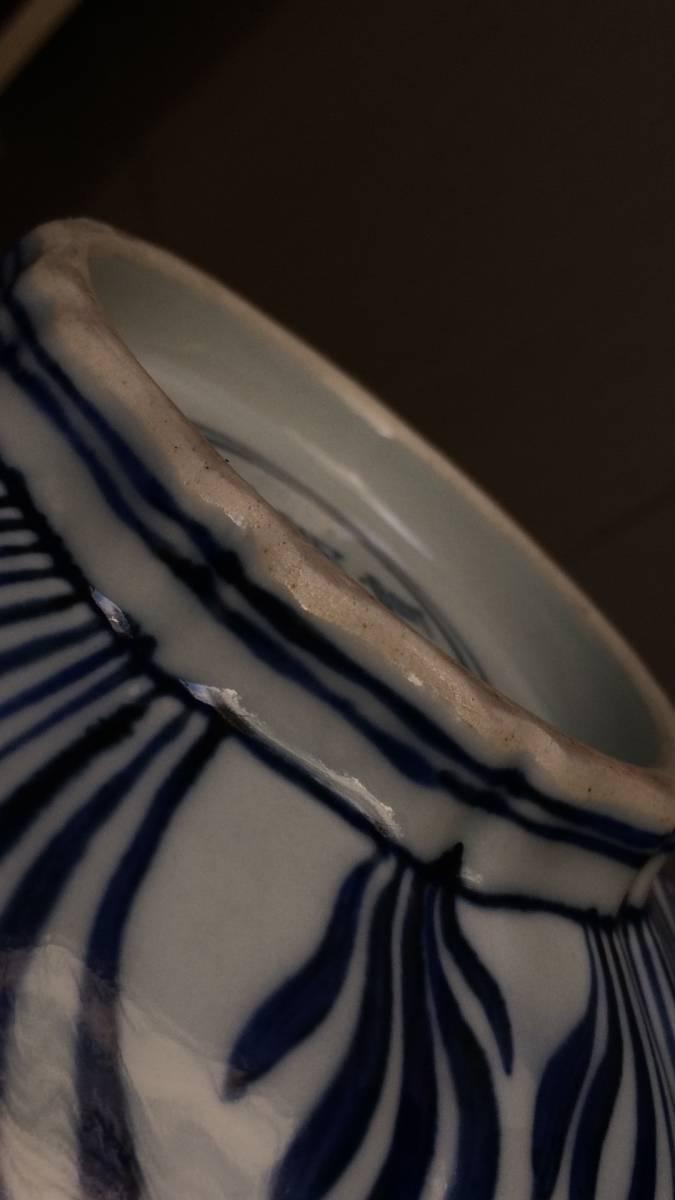 大明 宣徳年製款 青花魚藻紋鉢 GZ-14-日本代购网图片7链接