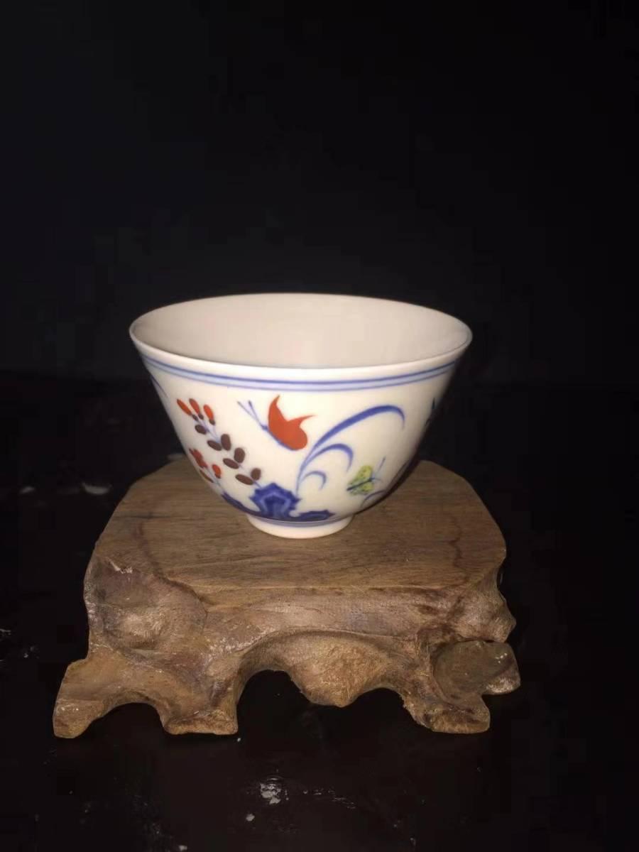 大明 成化年製款 斗彩三秋杯 博物館名器 GZ-13-日本代购网图片3链接