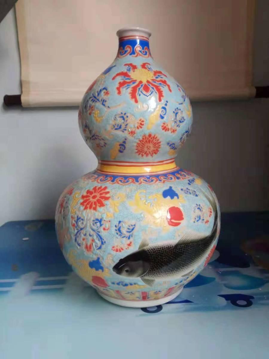 大清 乾隆年製款 宮廷用琺瑯彩瓢箪瓶  SC-1-日本代购网图片1链接