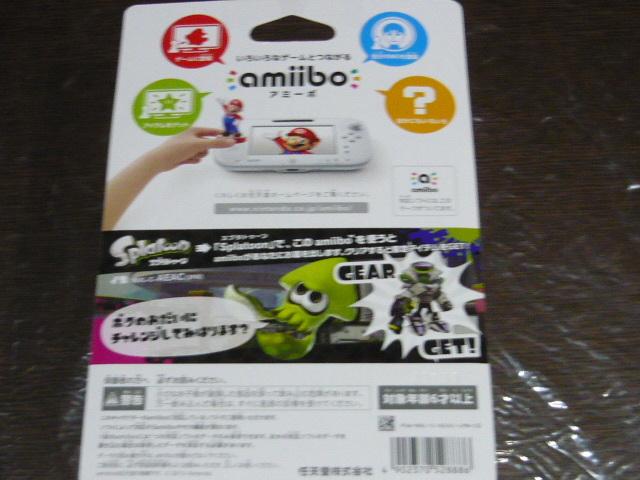 [即決]amiibo アミーボ スプラトゥーンシリーズ シオカラーズセット アオリ/ホタル & イカ Wii U Switch ☆わけあり・新品・未開封★_画像7