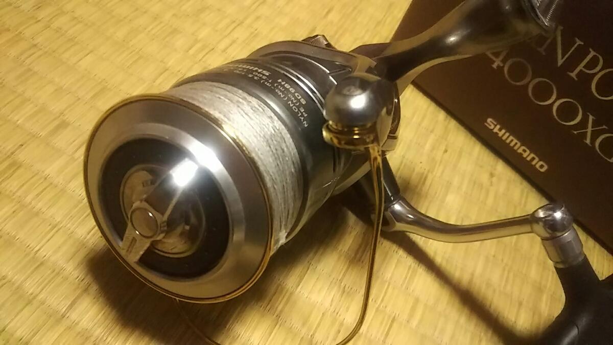 シマノ ツインパワー 4000XG TWINPOWER 4000 リール シーバス ヒラスズキ 磯マル ルアー_画像4
