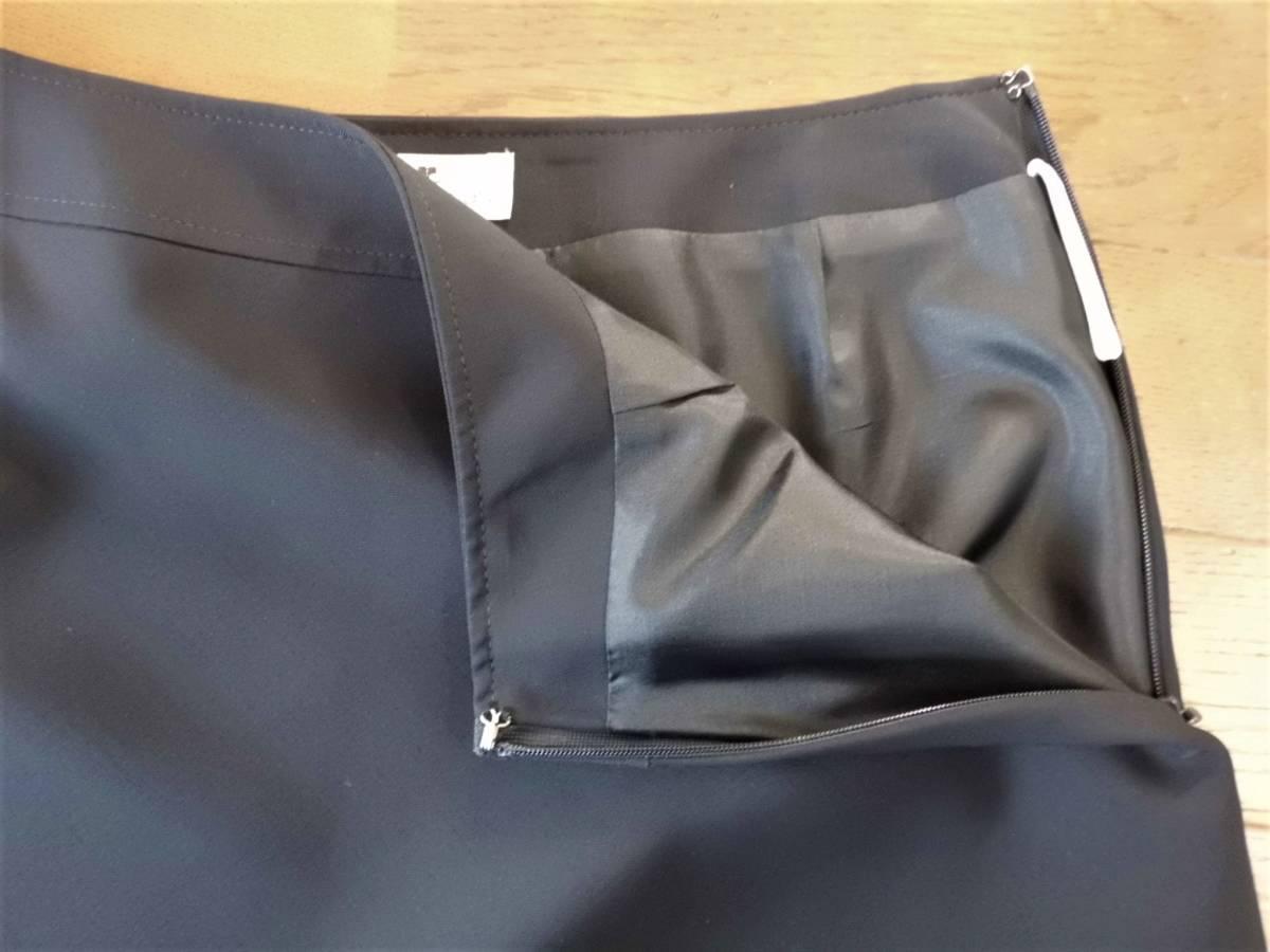 超美品*courreges クレージュ*裾フレアの膝丈スカート濃紺(64)セレモニー♪_画像4