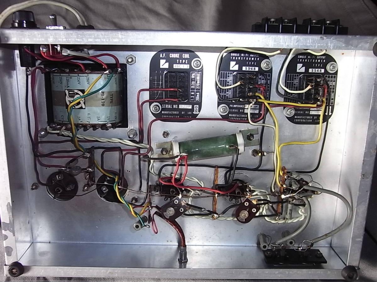 自作6RA8シングルアンプ ジャンク品部品取 (1)(2)LUX OPT SS4B 2個(3)チョーク4BC1,3個(4)SANSUI PT120_画像3