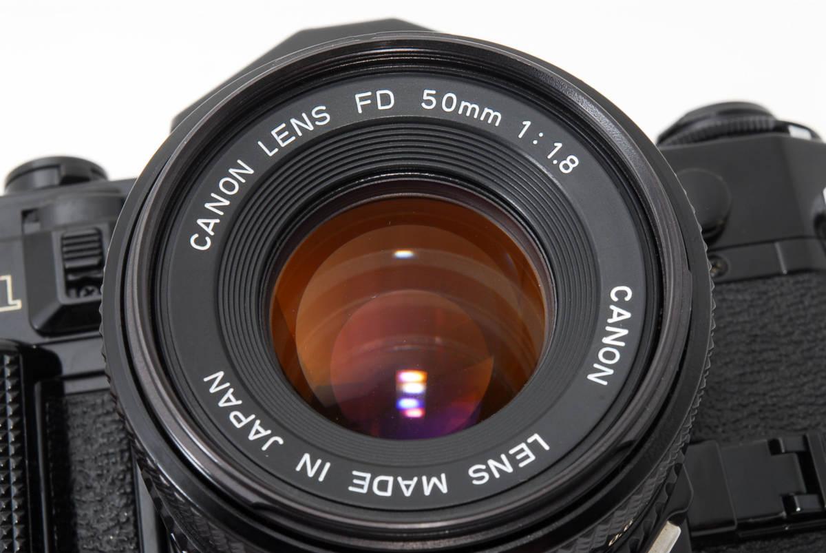 ★外観美品★ キャノン A-1 body ボディ (Canon FD 50mm F1.8) レンズセット #2634_画像10