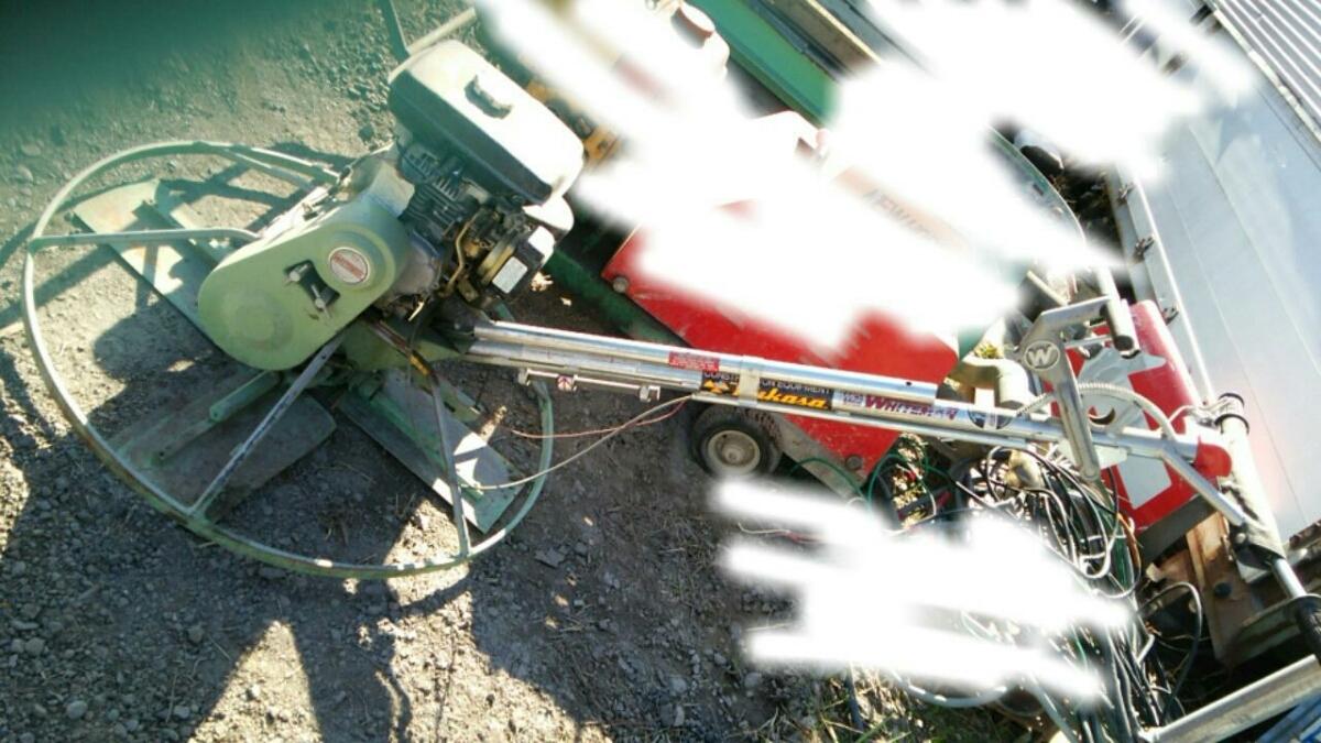 ホワイトマン パワートロウェル エンジン式土間ならし、建設機械