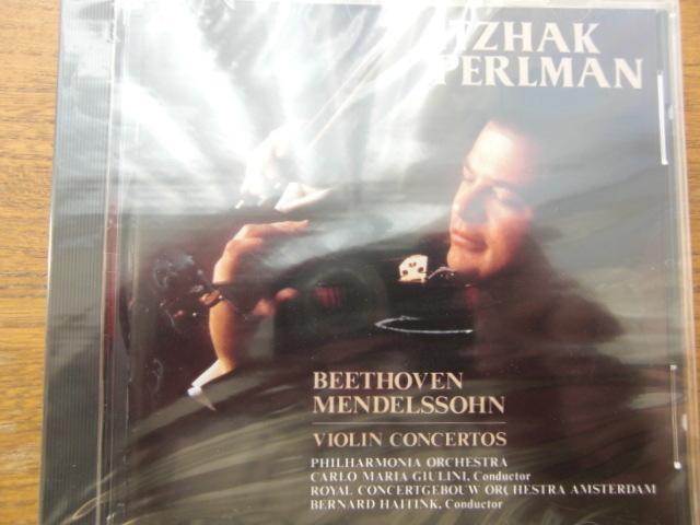 新品未開封 ベートーヴェン/メンデルスゾーン:ヴァイオリン協奏曲集 パールマン_画像1