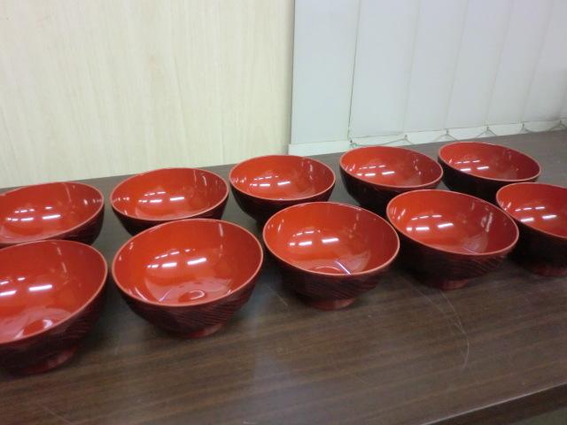 [送料無料] お椀 汁椀 和食器 10客 未使用保管品 NO.2269_画像2