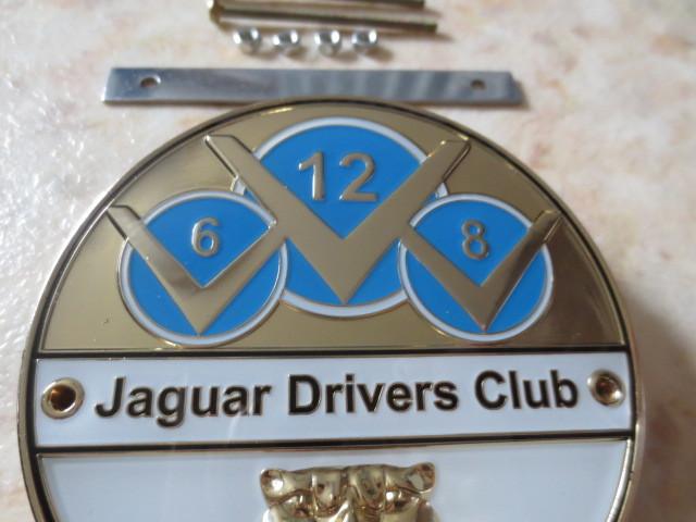 英国製ジャガードライバーズクラブバッジ・新品&未使用品★JAGUAR・XJ・XF・XE・F-PACE・CDEFタイプ・007ボンドカー・ディムラー・英国車_貴殿の愛車はV6?V8?それともV12?