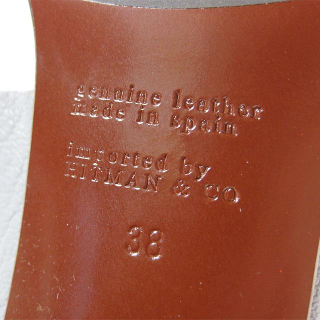 入手困難 新品未使用 CHIE MIHARA チエミハラ レザー&スエードサンダル Ruru 38サイズ 7cmヒール グレー スペイン製 チャンキーヒール_画像6