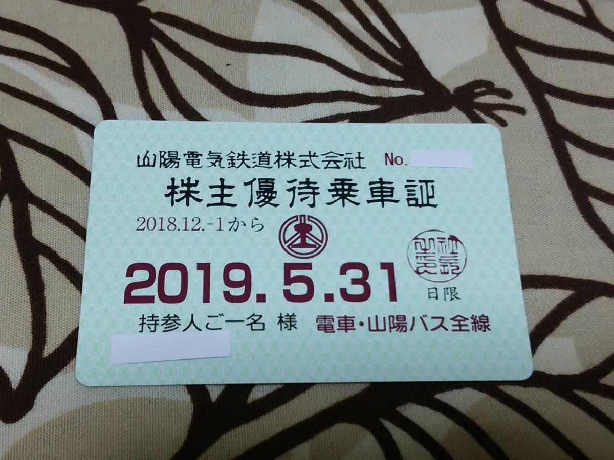 最新 山陽電鉄 株主優待乗車証 (電車・バス全線) 定期型 2019.5/31迄