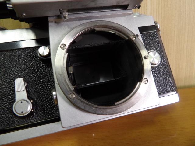 ジャンク扱い Nikon F ボディ レンズ付き NIKKOR-S Auto 1:1.4 f=50mm_画像4