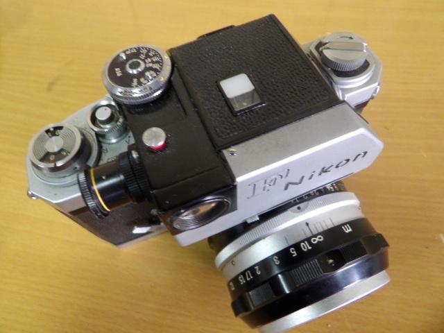 ジャンク扱い Nikon F ボディ レンズ付き NIKKOR-S Auto 1:1.4 f=50mm_画像8