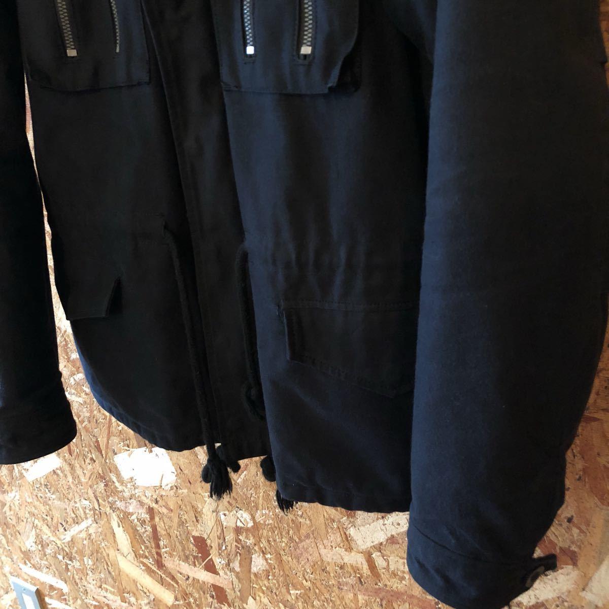 定価9万 PLEDGE プレッジ 三浦着 LIKE A SOLDIER JKT M65黒50 コヨーテファー コート ジャケット ミリタリー N3B ミリタリー アーミー_画像5