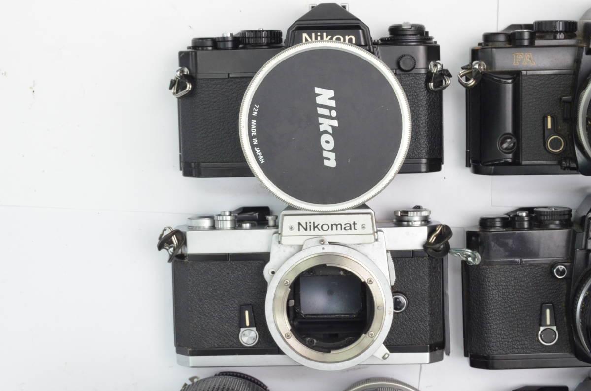 S60 Nikon ニコン FA FT2 F3 FG-20 EL FTN 等 一眼レフカメラ フィルムカメラ レンズ など まとめて おまとめ 大量セット_画像4