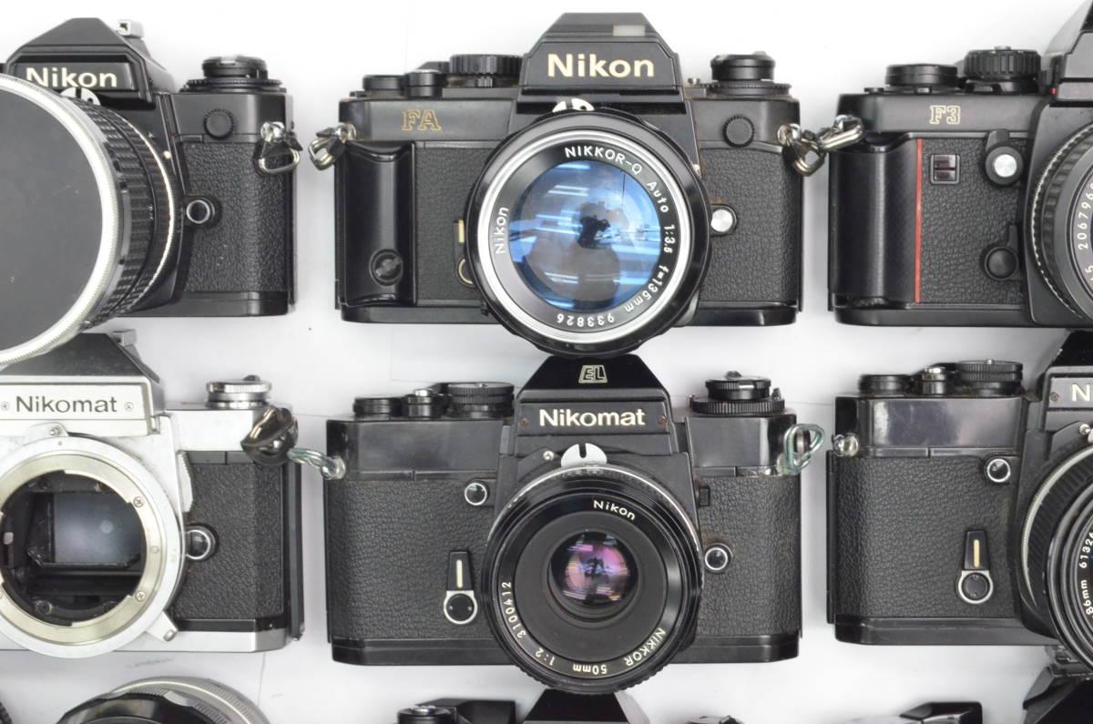 S60 Nikon ニコン FA FT2 F3 FG-20 EL FTN 等 一眼レフカメラ フィルムカメラ レンズ など まとめて おまとめ 大量セット_画像2