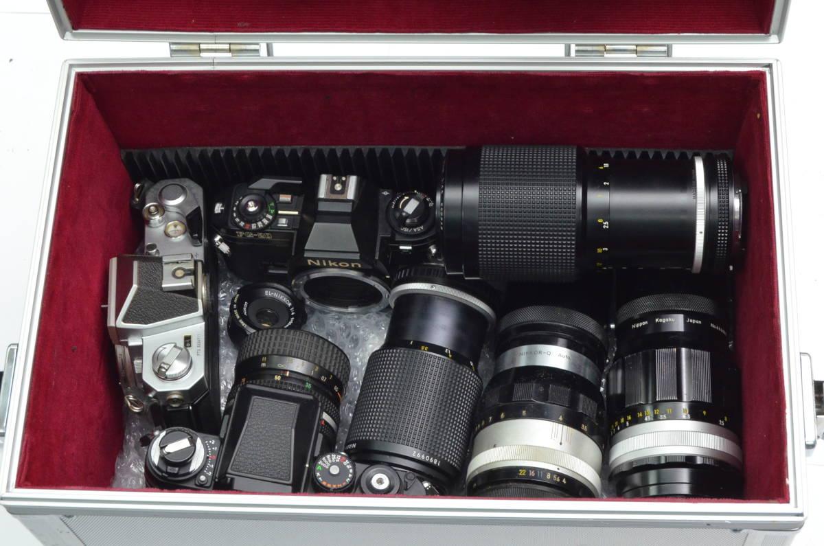 S60 Nikon ニコン FA FT2 F3 FG-20 EL FTN 等 一眼レフカメラ フィルムカメラ レンズ など まとめて おまとめ 大量セット_画像7