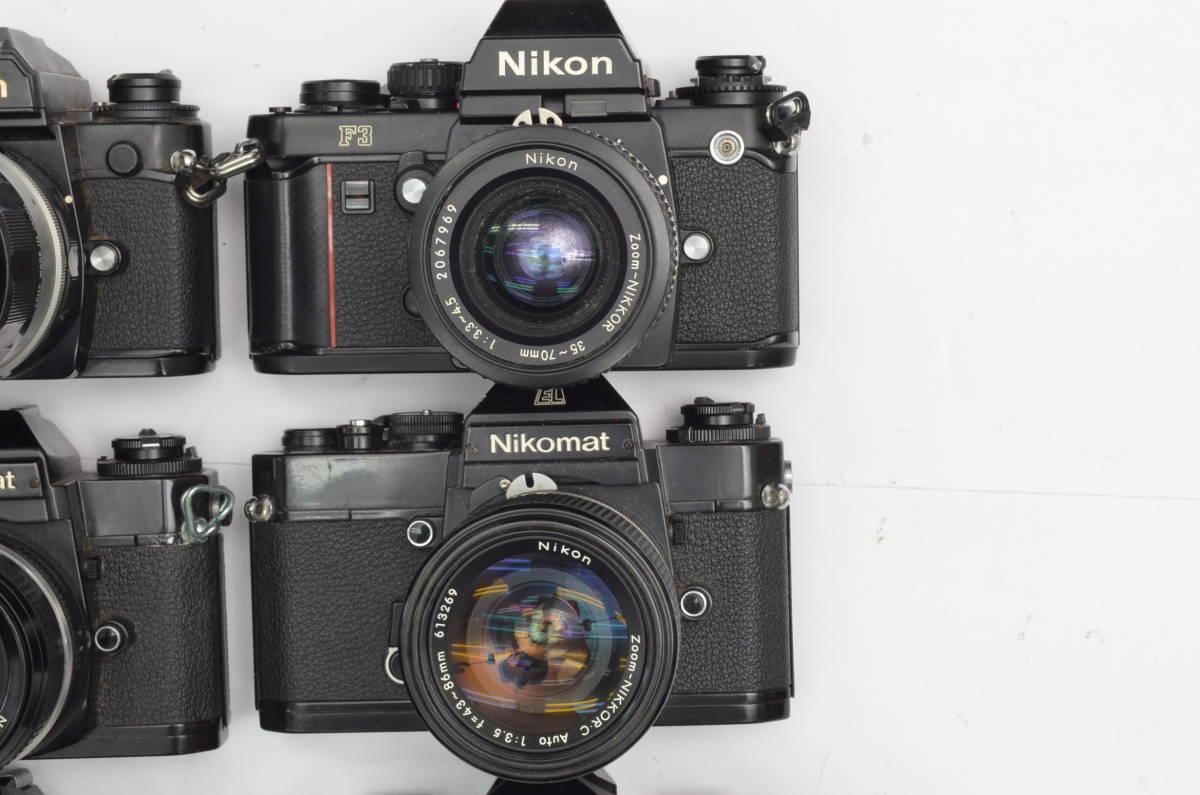 S60 Nikon ニコン FA FT2 F3 FG-20 EL FTN 等 一眼レフカメラ フィルムカメラ レンズ など まとめて おまとめ 大量セット_画像3
