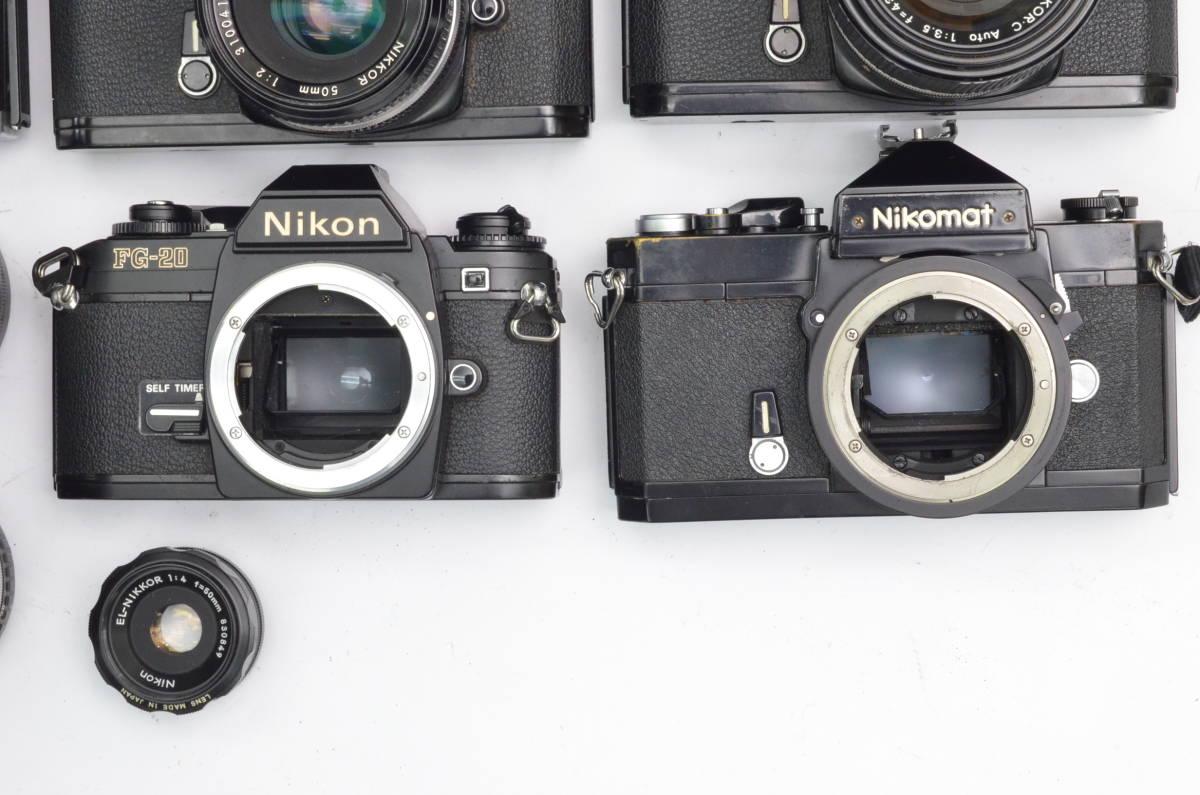 S60 Nikon ニコン FA FT2 F3 FG-20 EL FTN 等 一眼レフカメラ フィルムカメラ レンズ など まとめて おまとめ 大量セット_画像5