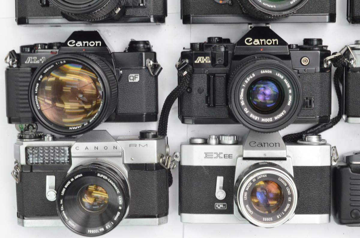 S65 Canon キヤノン A-1 AE-1 FT FTb FX 他 一眼レフカメラ フィルムカメラ レンズ など まとめて まとめ 大量 セット_画像5