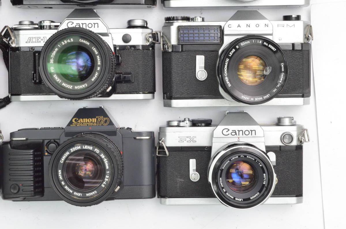 S65 Canon キヤノン A-1 AE-1 FT FTb FX 他 一眼レフカメラ フィルムカメラ レンズ など まとめて まとめ 大量 セット_画像3