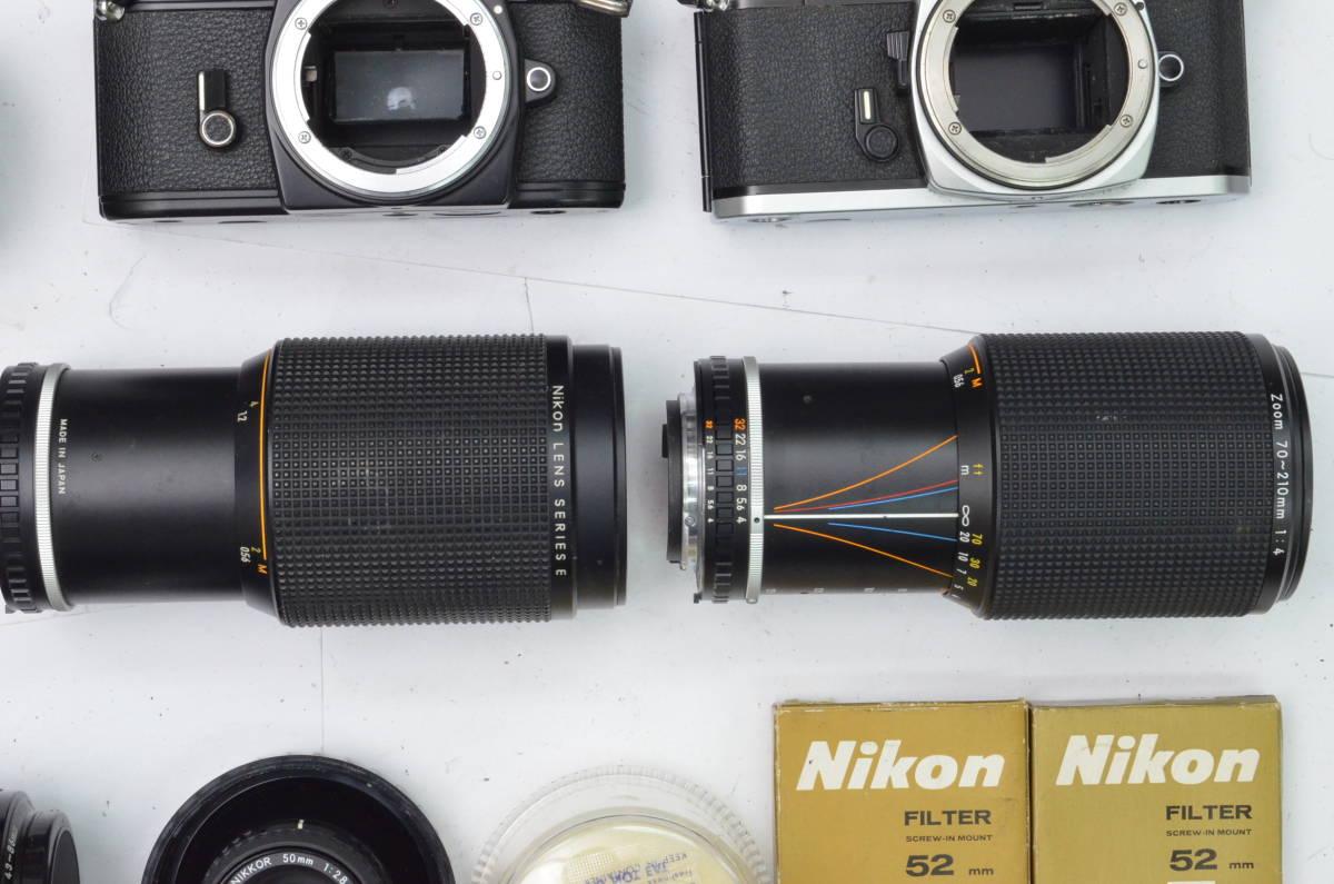 S24 Nikon ニコン FE EM FE2 MF 一眼レフカメラ レンズ 等 まとめて まとめ 大量 セット S202_画像7
