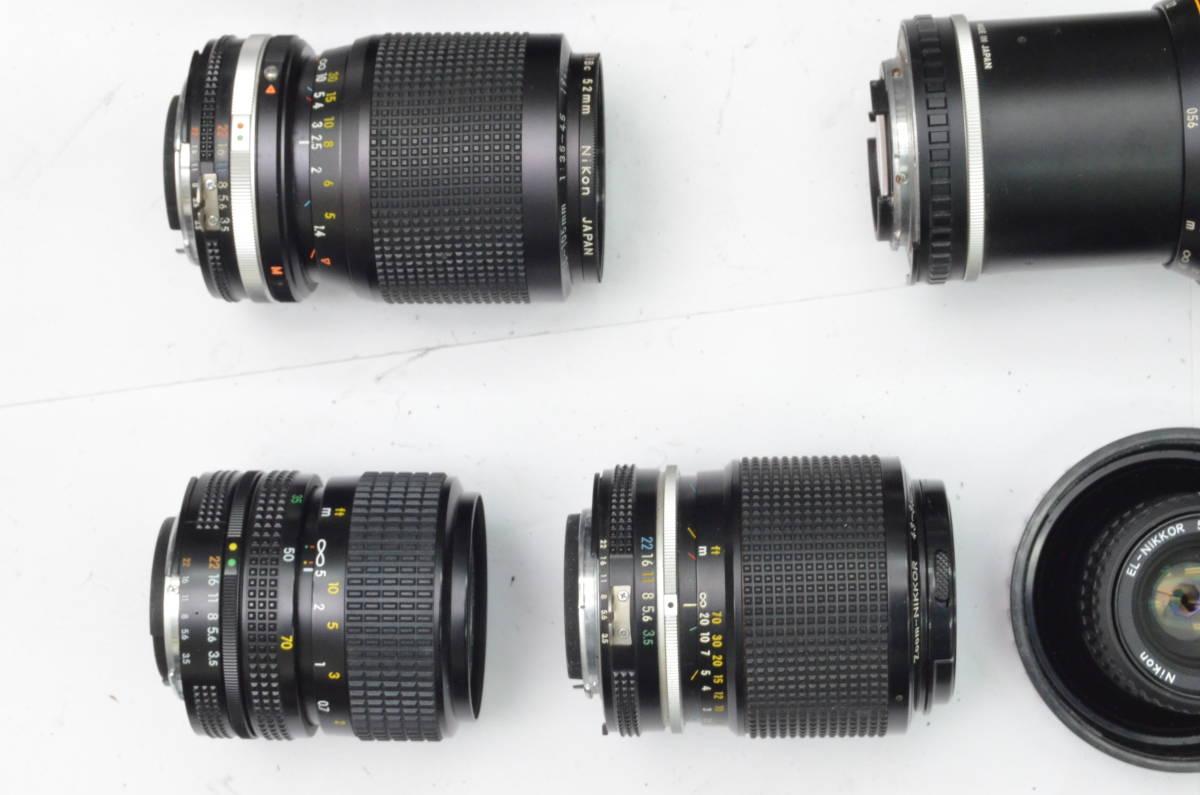 S24 Nikon ニコン FE EM FE2 MF 一眼レフカメラ レンズ 等 まとめて まとめ 大量 セット S202_画像4
