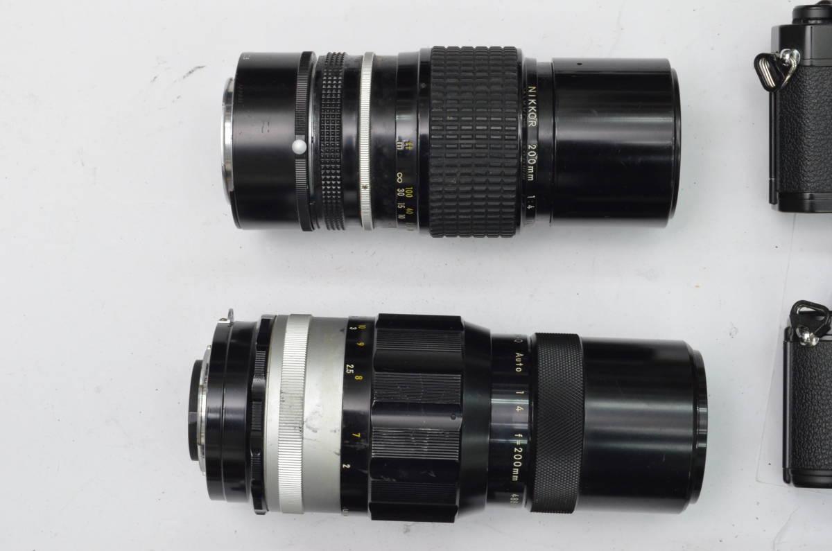 S24 Nikon ニコン FE EM FE2 MF 一眼レフカメラ レンズ 等 まとめて まとめ 大量 セット S202_画像3