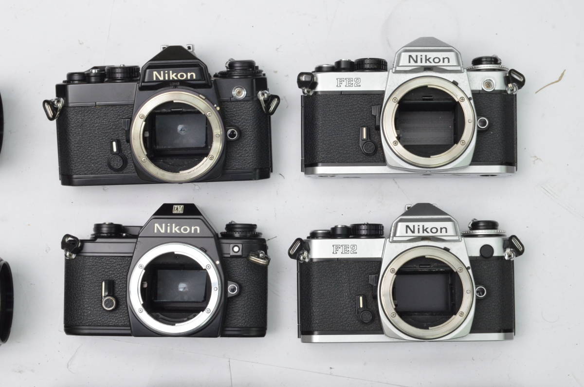S24 Nikon ニコン FE EM FE2 MF 一眼レフカメラ レンズ 等 まとめて まとめ 大量 セット S202_画像2