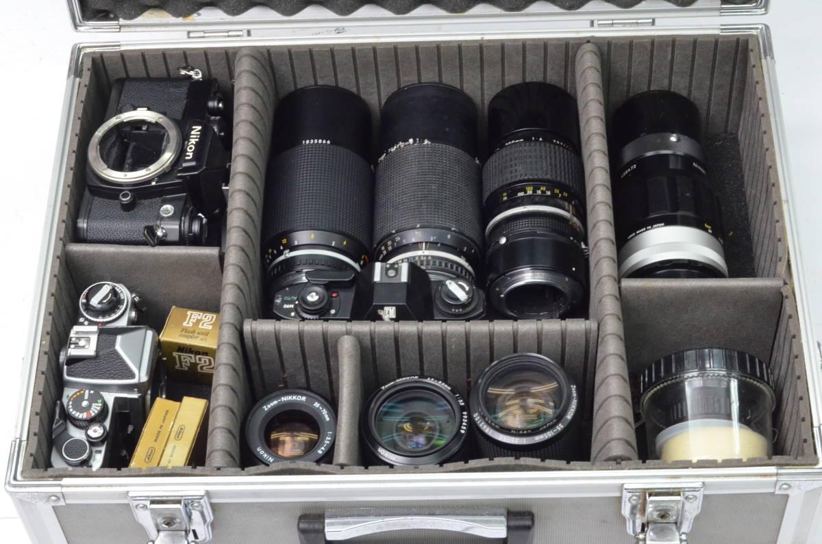 S24 Nikon ニコン FE EM FE2 MF 一眼レフカメラ レンズ 等 まとめて まとめ 大量 セット S202_画像9