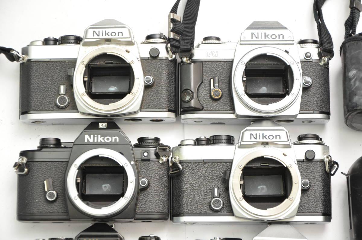 S48 NIKON ニコン FT FT2 FTN FE FE2 EM F80 F90 一眼レフ MF AF ズームレンズ 単焦点 まとめてセット S203_画像2