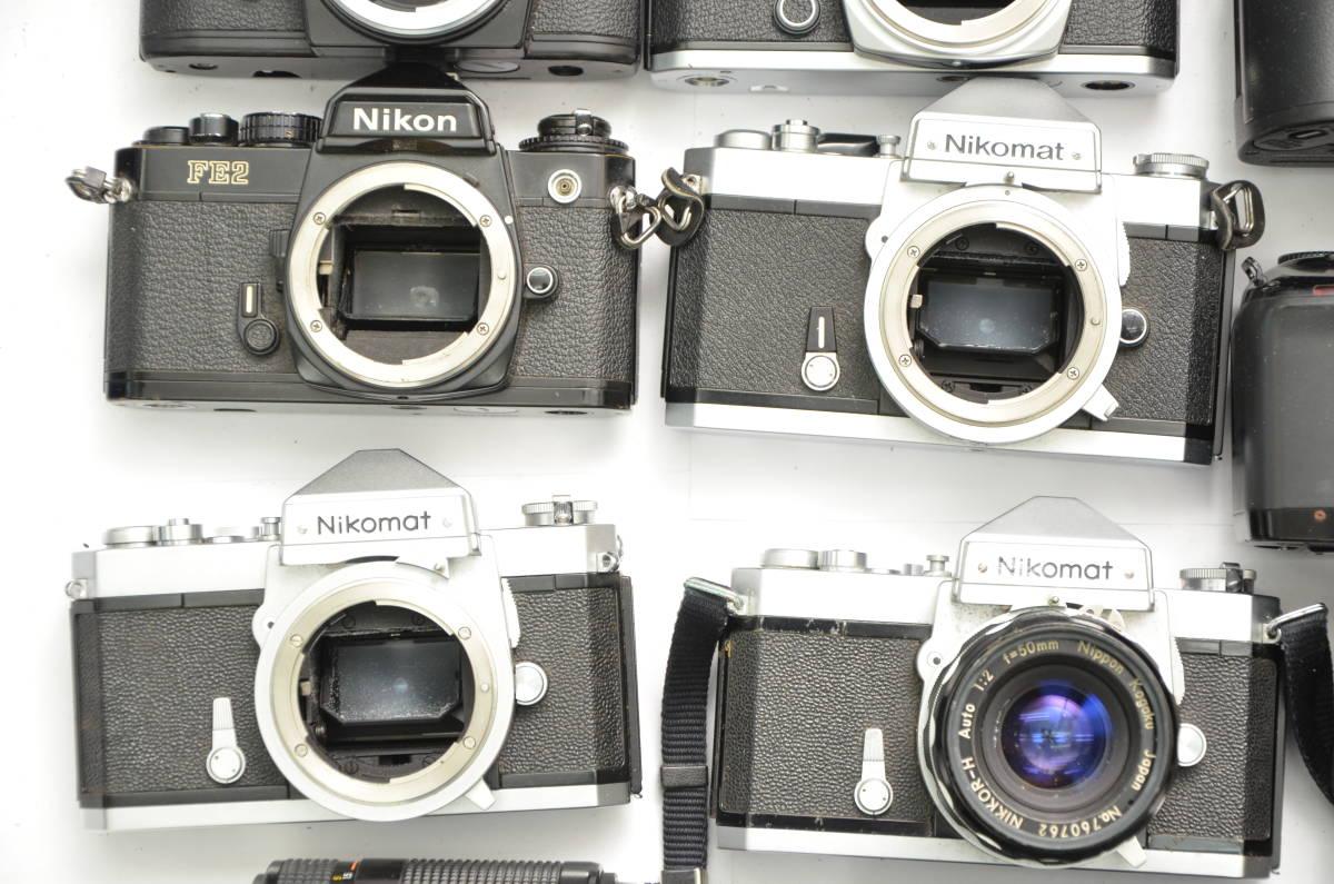 S48 NIKON ニコン FT FT2 FTN FE FE2 EM F80 F90 一眼レフ MF AF ズームレンズ 単焦点 まとめてセット S203_画像3