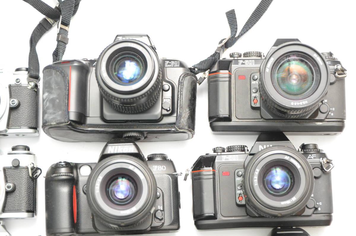 S48 NIKON ニコン FT FT2 FTN FE FE2 EM F80 F90 一眼レフ MF AF ズームレンズ 単焦点 まとめてセット S203_画像4