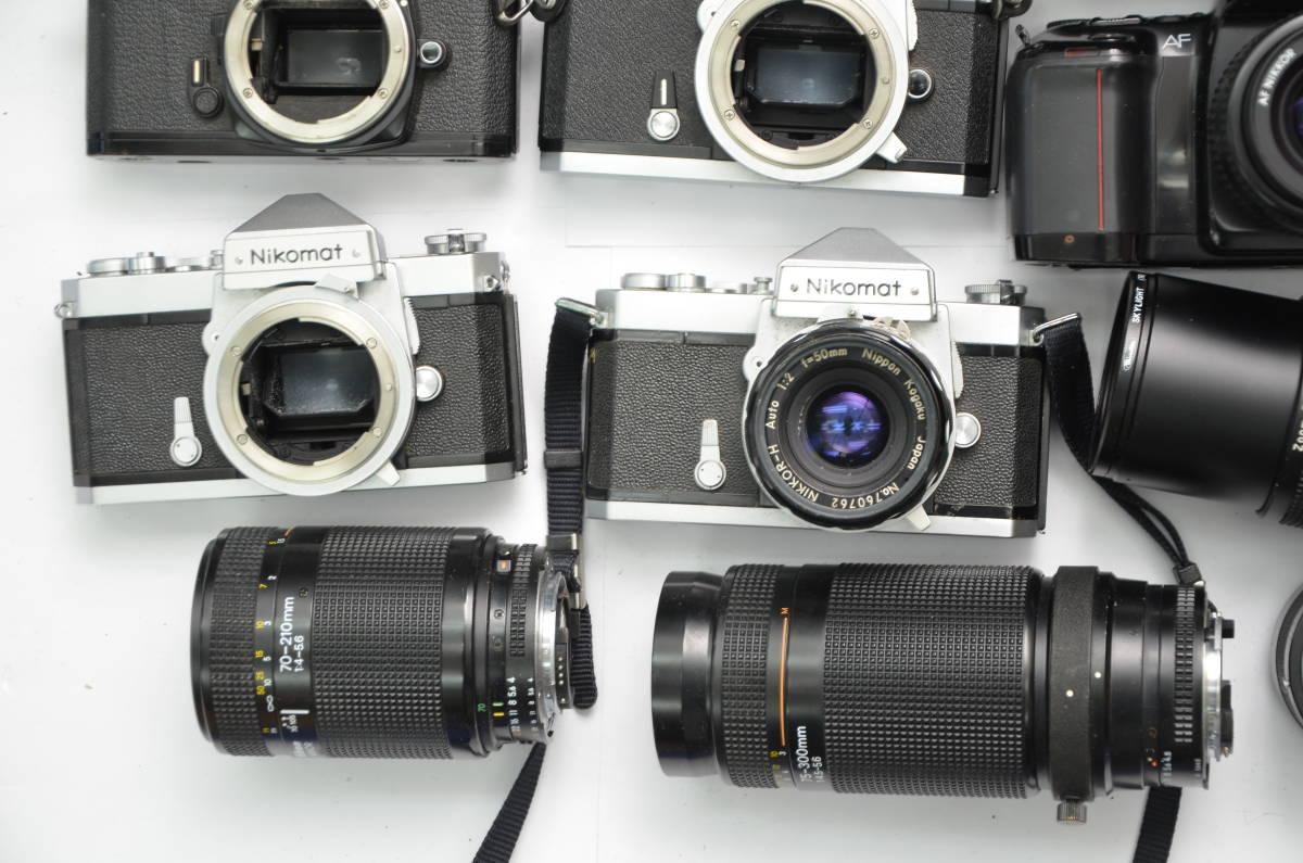 S48 NIKON ニコン FT FT2 FTN FE FE2 EM F80 F90 一眼レフ MF AF ズームレンズ 単焦点 まとめてセット S203_画像6