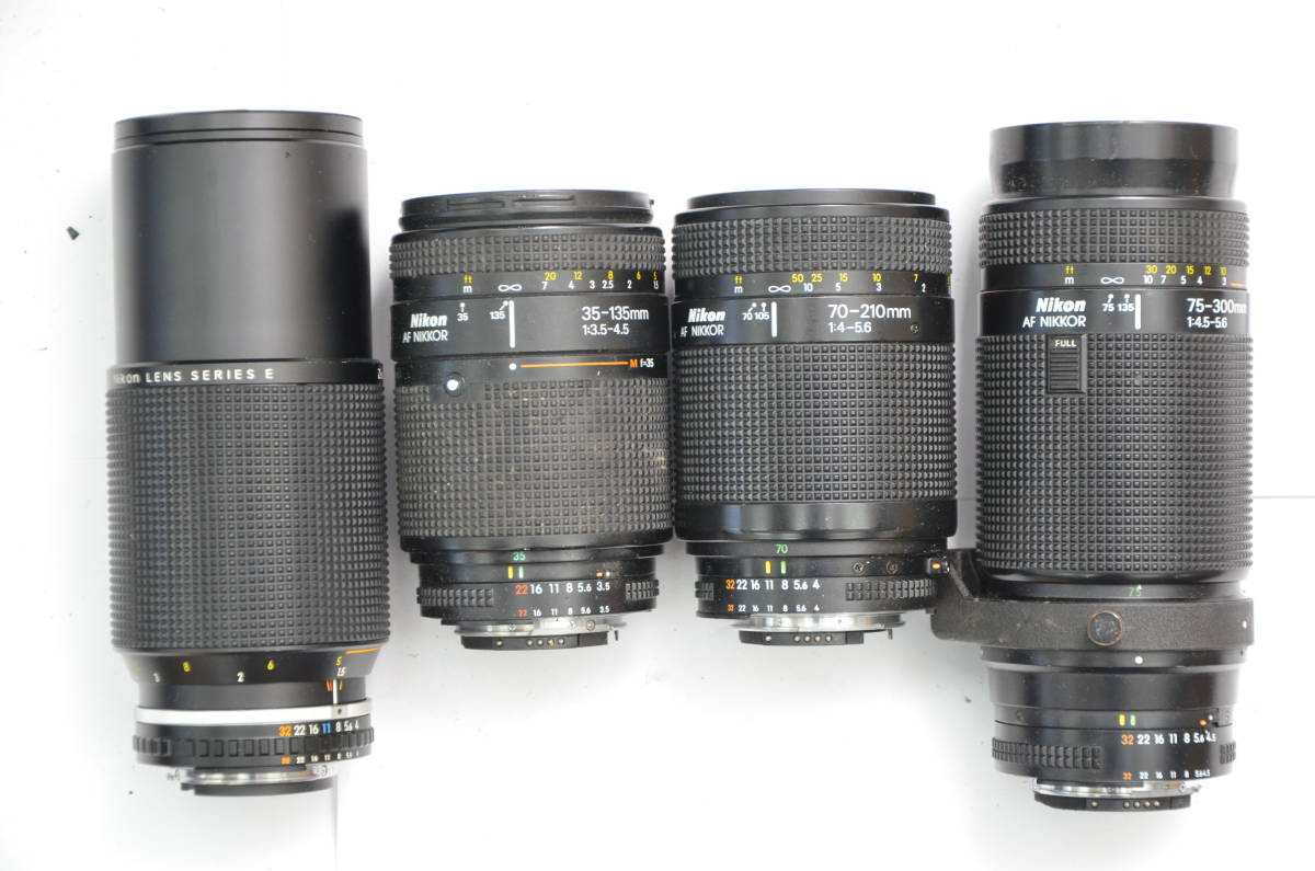S48 NIKON ニコン FT FT2 FTN FE FE2 EM F80 F90 一眼レフ MF AF ズームレンズ 単焦点 まとめてセット S203_画像8