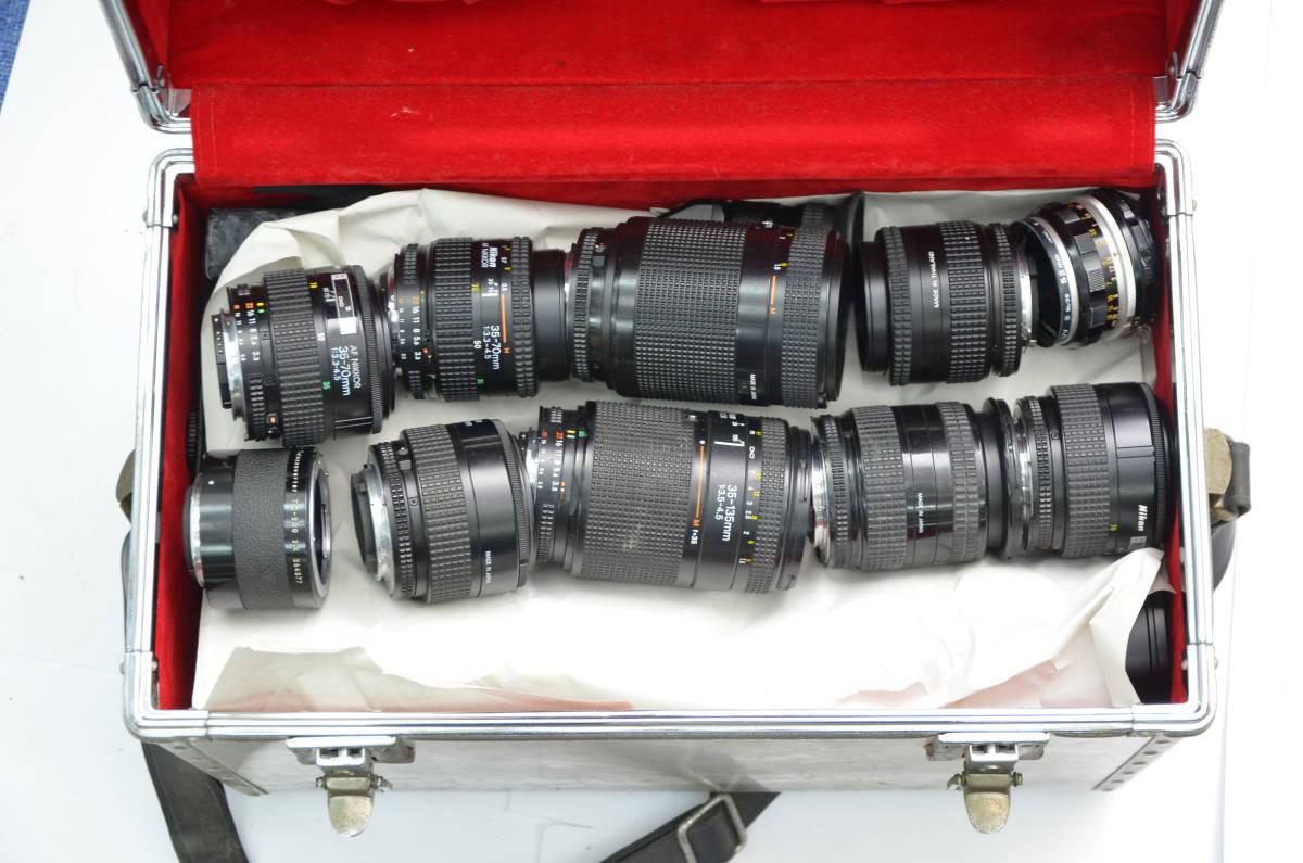 S48 NIKON ニコン FT FT2 FTN FE FE2 EM F80 F90 一眼レフ MF AF ズームレンズ 単焦点 まとめてセット S203_画像9