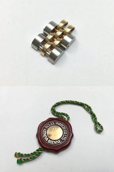 ROLEX ロレックス レディース 時計 デイトジャスト オートマチック 69173 YG/SS ホワイトローマン文字盤 ジャンク  _画像10