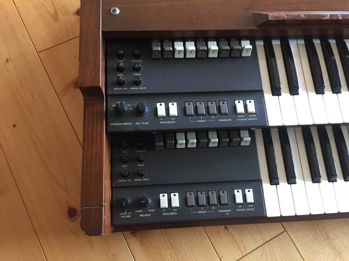 KORG 名機 旧 BX-3 アナログオルガン 純正木製スタンド 専用ハードケース付き プレーヤーズコンディション _画像2