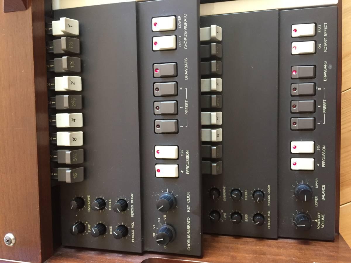 KORG 名機 旧 BX-3 アナログオルガン 純正木製スタンド 専用ハードケース付き プレーヤーズコンディション _画像6