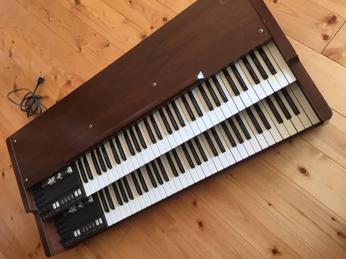 KORG 名機 旧 BX-3 アナログオルガン 純正木製スタンド 専用ハードケース付き プレーヤーズコンディション _画像9
