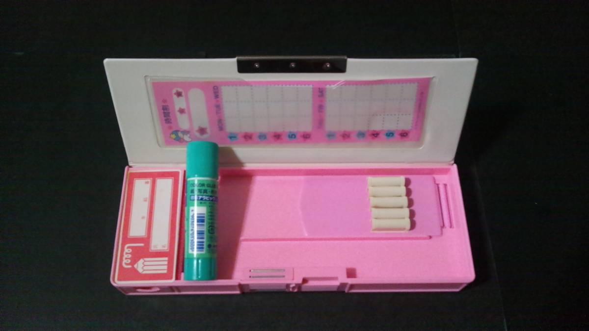 昭和レトロ レア 87年製 キキララ リトルツインスターズ 両面筆箱 未使用 デットストック クリスマスプレゼントに_画像3