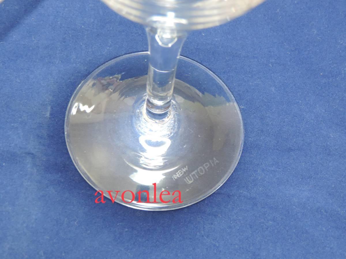 佐々木クリスタル ペア ワインセット/ワイングラス ニューユートピア(sasaki/ササキ/クリスタルガラス/硝子/NEW UTOPIA_画像6