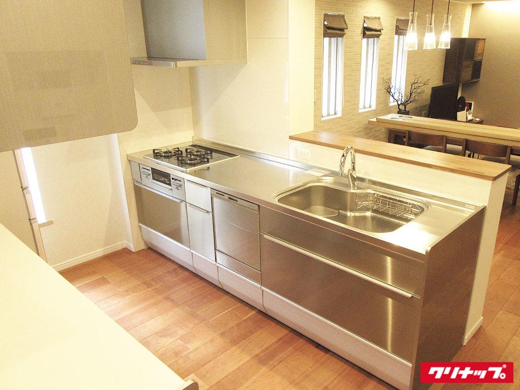 N0355【展示未使用品】クリナップ 最高級システムキッチン/食器洗い洗浄機・ビルトインコ