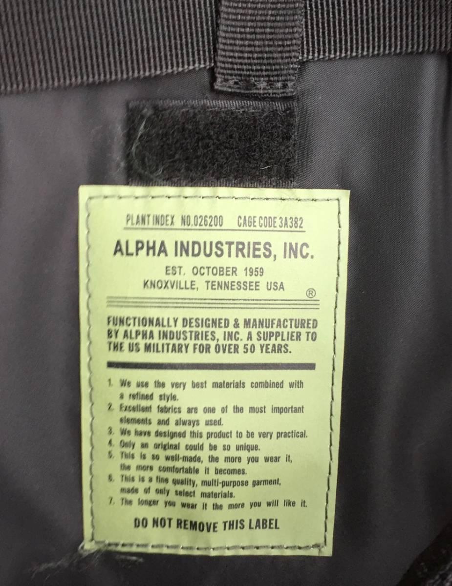 即決 ALPHA INDUSTRIES バッグ 0490400 サイズ/38cm × 38cm × 13.5cm_画像7