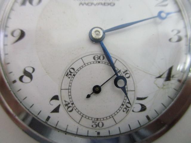 4682◆MOVADO モバード 懐中時計 クロノメーター 15石 稼働品 アンティーク 手巻き_画像3