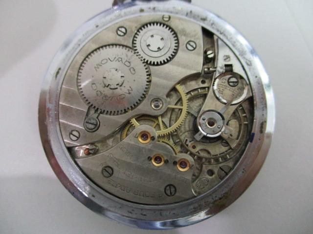 4682◆MOVADO モバード 懐中時計 クロノメーター 15石 稼働品 アンティーク 手巻き_画像7
