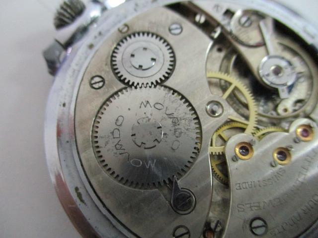 4682◆MOVADO モバード 懐中時計 クロノメーター 15石 稼働品 アンティーク 手巻き_画像9