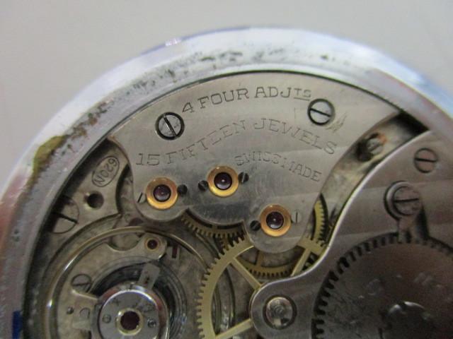 4682◆MOVADO モバード 懐中時計 クロノメーター 15石 稼働品 アンティーク 手巻き_画像10