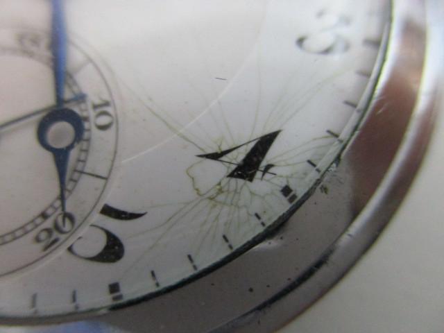 4682◆MOVADO モバード 懐中時計 クロノメーター 15石 稼働品 アンティーク 手巻き_画像4