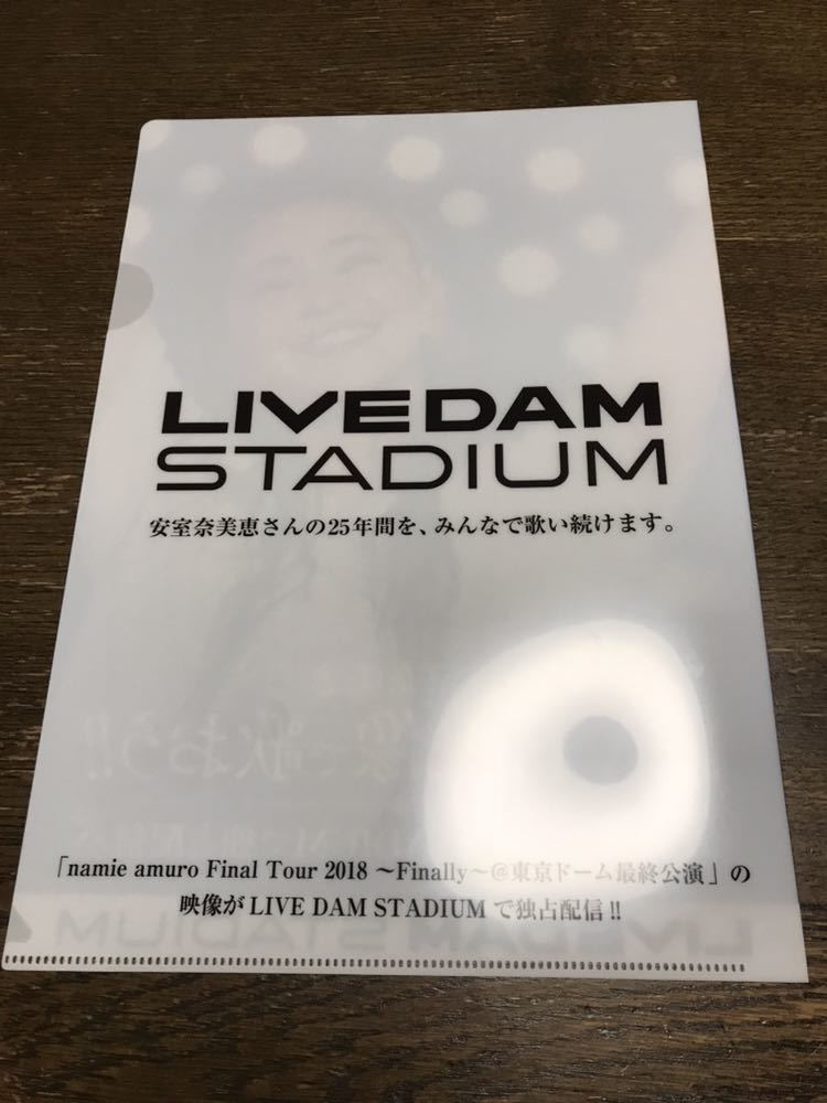 安室奈美恵 クリアファイル 2枚セット LIVE DAM 非売品 グッズ 送料込み 送料無料_画像4