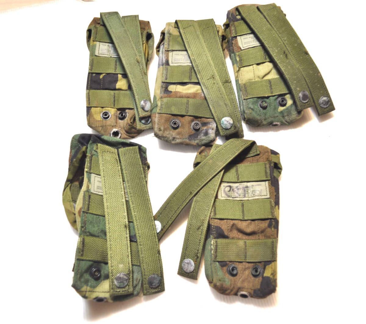 米軍放出品 実物 USMC 米海兵隊 US ARMY ウッドランド 迷彩 M4 M16 5.56mm 30連 シングルマガジンポーチセット FSBE RECON_画像2